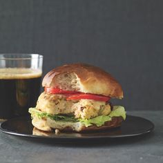 Millet Burgers with Olives, Sun-Dried Tomatoes, and Pecorino Recipe | Epicurious.com
