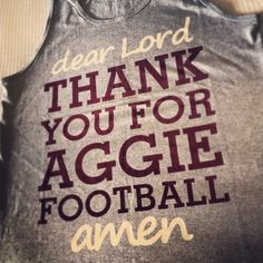 Love me some Aggie Football!