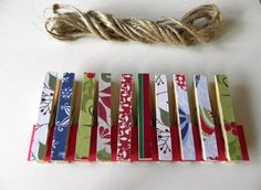 Christmas clothes pins for hanging cards