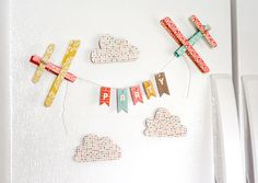Magnetic Refrigerator Airplane Banner (tutorial)