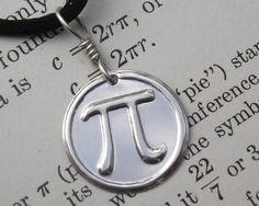 Pi Sterling Silver Pendant  Mathematics by nicholasandfelice, $14.00