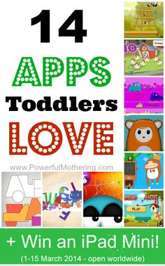 14 Apps for Toddlers + Win an Ipad Mini! (1-15 march 2014 - open worldwide)