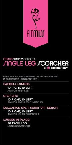 ~Single Leg Scorcher Workout~ #workout #fitmiss #chadyd