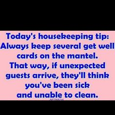 House Keeping. I might have to try this. :)