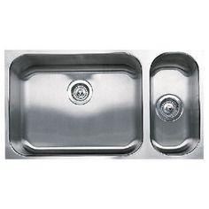 Blanco B440256 Spex Plus Stainless Steel Undermount - Double Bowl Kitchen Sink - Stainless Steel