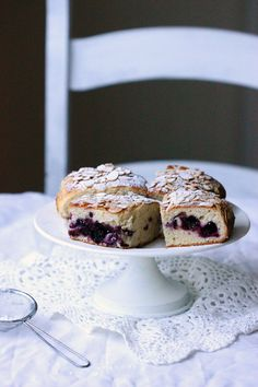 Blackberry and almond buns