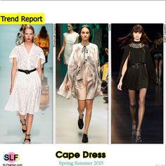 Cape Dress Trend for Spring Summer 2015. Emanuel Ungaro, Giles, and Saint Laurent #Spring2015 #SS15