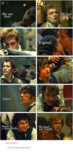 Hugo's descriptions of their deaths