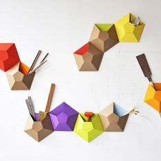storage solutions, idea, wallpocket, wall storage, geometric shapes, paper, wall pockets, design, ampersand