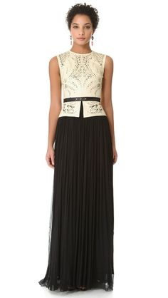 leather bodice / mesh skirt
