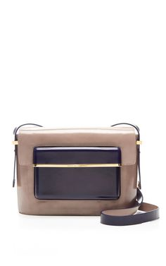 Mvk Medium Two-Tone Leather Shoulder Bag by Mary Katrantzou Now Available on Moda Operandi