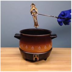Use an old slow cooker to remove paint. Just don't use it again for cooking!  #LowesFixInSix