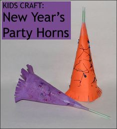 Kids Craft: New Year's Party Horn, Noisemaker