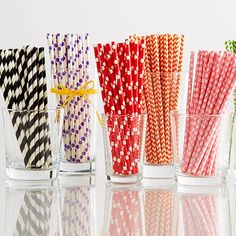 Paper Straw buying source - the Container Store!