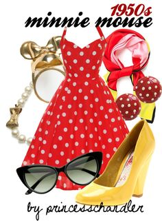 """Minnie Mouse- Nifty Fifties"" by princesschandler on Polyvore"