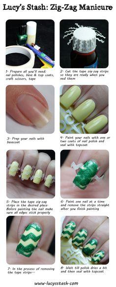 zig zag, spring zigzag, nailart, luci stash, manicur tutori, manicures, nail arts, nail design, zigzag manicur
