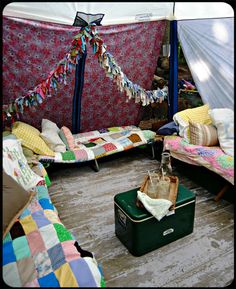 The Old Painted Cottage Unique Goods and Curious Finds...backyard camping! (Scroll to the bottom of photos for the outdoor shots.)