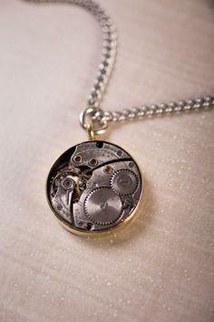 Steampunk watch necklace