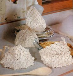 Simple Easy Beginner Crocheting Crochet Pattern for 2 Hot Pads & a Dish Cloth