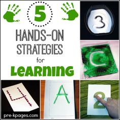 5 Hands-On Strategies for Learning  from Pre-K Pages