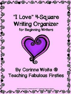 """I Love"" 4-Square Writing Organizer ♥FREEBIE♥"