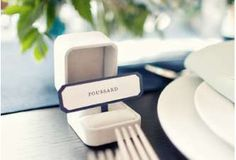 The Ring Box Wedding Place Card is an Adorable Way to Kick Off Dinner #DIY trendhunter.com