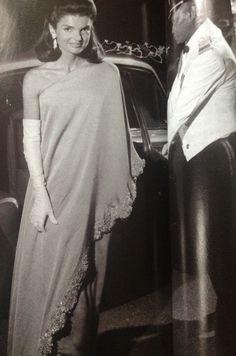 Jackie Kennedy in Valentino, 1967.