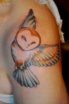 the perfect owl tattoo by lindsay carter at opal ink in portland or. Black Bedroom Furniture Sets. Home Design Ideas
