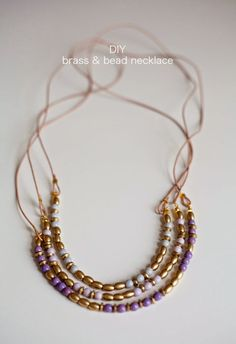 Lotts and Lots : DIY - brass and bead necklace