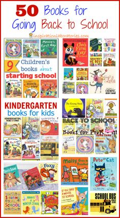 50 Books about Going Back to School - Featured on the Sunday Showcase at Inspiration Laboratories