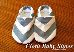 Adorable cloth baby shoes...A scrap of fabric can become this!