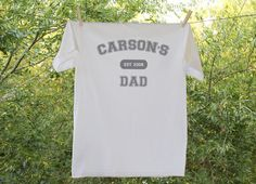 Personalized Dad Shirt - Established in... $15