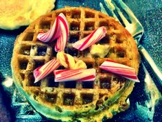 Candy Cane Waffle - don't judge it until you've tried it. #Holidays