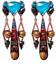 Heaven on an ear... Liberty London gem drop earrings
