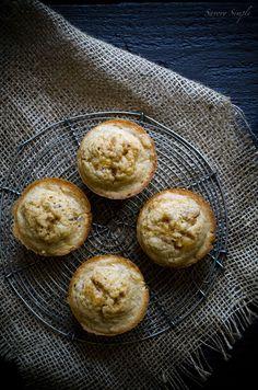 Brown Butter Nectarine Muffins