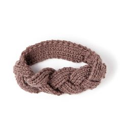 Braided knitted headband