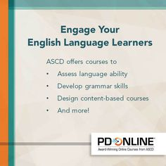 ASCD offers a variety of PD Online courses to help you connect with your ELLs. Find out which are best for you!