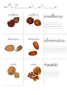RECURSOS EDUCACION INFANTIL: Alimentos: Lecto-escritura