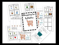 """shopping for syllables"" fun syllable sorting activity with assessments"