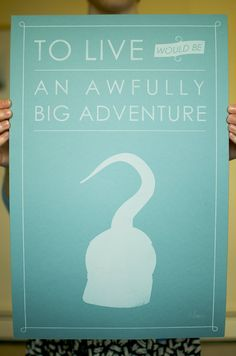 Peter Pan poster...absolutely love this! (Also, all the proceeds from it go to Make-A-Wish.)