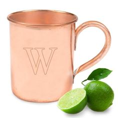 Engraved Moscow Mule Copper Mug - cool groomsman gift idea