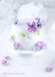 Mini Spring Ruffle Cake