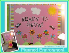 "Back to School Bulletin Board Welcome: ""Ready to Grow"" (from Bulletin Board Round UP via RainbowsWithinReach)"