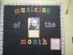 Each month I take a few minutes to introduce my students to an influential composer and we listen to an example. I have Vivaldi,  Mozart,  Handel, Dvorak,  and Copland so far..
