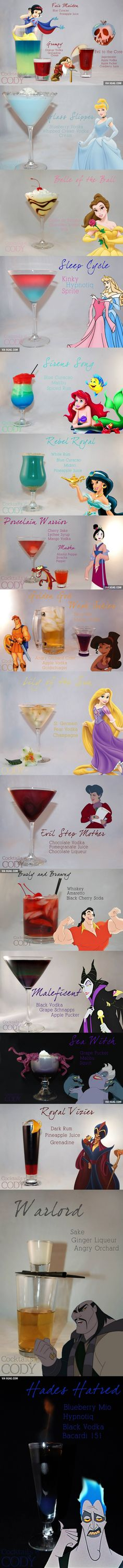 16 Disney Themed Cocktails You Will Want To Try. ahh my child and adult self are re-united