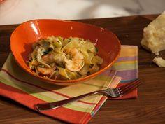 Shrimp and Artichoke Tagliatelle with Black Pepper and Pecorino b Geoffrey Zakarian