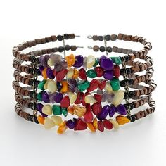 SONOMA life + style Gold Tone Bead Cuff Bracelet~ It appears that SONOMA may be just right for my Bohemian style! This is so pretty!