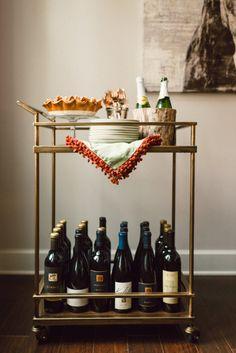 bar cart for desserts