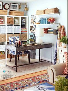 craft room / office in living room inspiration by Joyful Lova, via Flickr