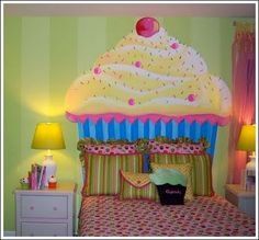 colorful cupcake for the wall